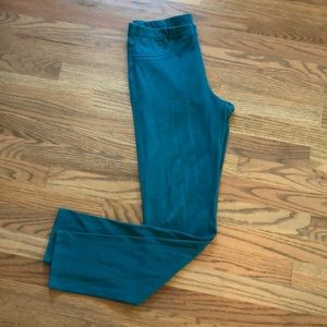 Uniqlo teal jeggings